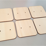 6pc Laser cut Plywood Earring Display cards