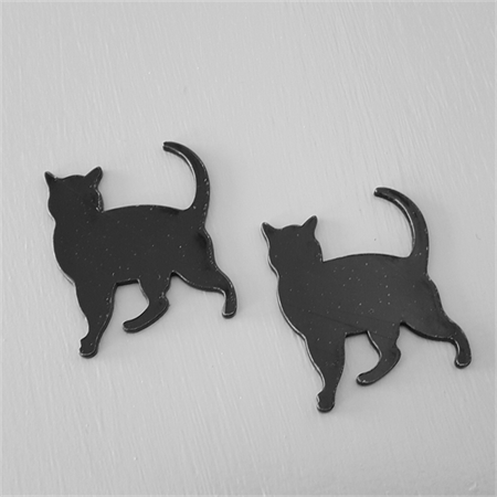 Black Cat Laser cut Acrylic Pendant 2pc