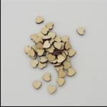 20 x wooden 12mm heart tiles shapes