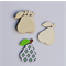 4 X Wood Pear Shape Embellishments