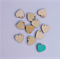 10 x wooden 20mm heart tiles shape charms