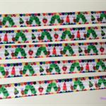 Apple Grub- Fold Over Elastic- FOE-  2 metres- Foldover Print Elastic-