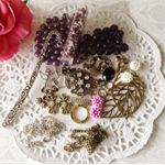 Mix Pack Jewellery Beads Making - Purple