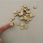 10 x wooden small 12mm round corner square tiles shapes