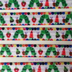 Apple Grub- Fold Over Elastic- FOE-  1 metre- Foldover Print Elastic-