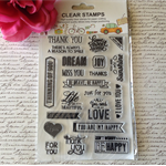 Clear Stamp Set - Sentiments