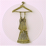 Vintage Roaring 20s Dress Pendant in Antique Gold for Vintage Style Jewellery