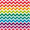 3 Paper Napkins for Decoupage / Tea Parties / Weddings - Chevron Rainbow