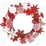3 Paper Napkins for Decoupage / Tea Parties / Weddings - Wreath