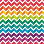 3 Paper Napkins for Decoupage / Tea Parties / Weddings - Chevron Rainbow