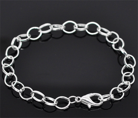 3  Silver Plated Rolo Link Bracelets