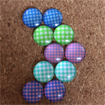 5pr - Glass cabochon Domes - 12mm #53