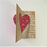 Flip-its Pop Up Card with Die Cut Love Heart DIY Valentine's Day Card