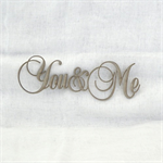 You & Me Scrapbooking Love Phrase Laser Cut Chipboard for DIY Cake Topper