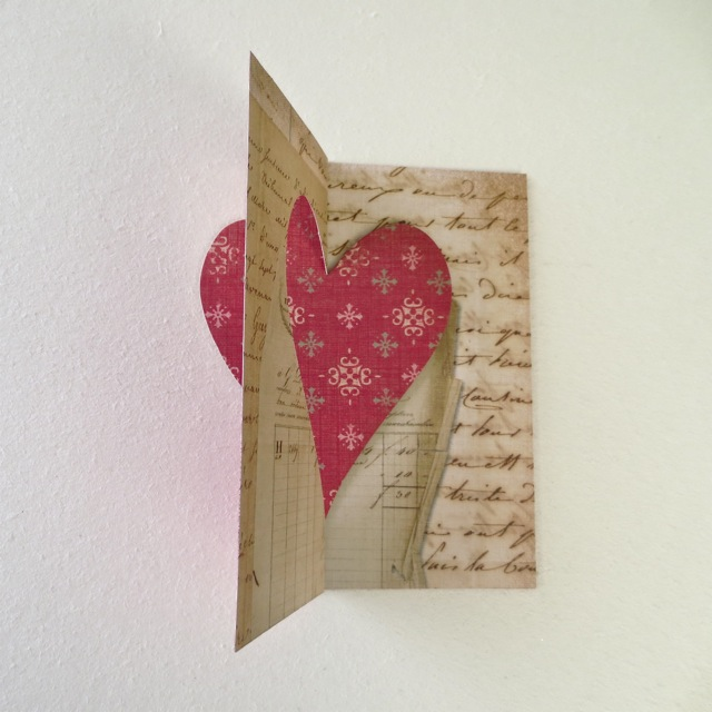 Flip Its Pop Up Card With Die Cut Love Heart Diy Valentines Day Card