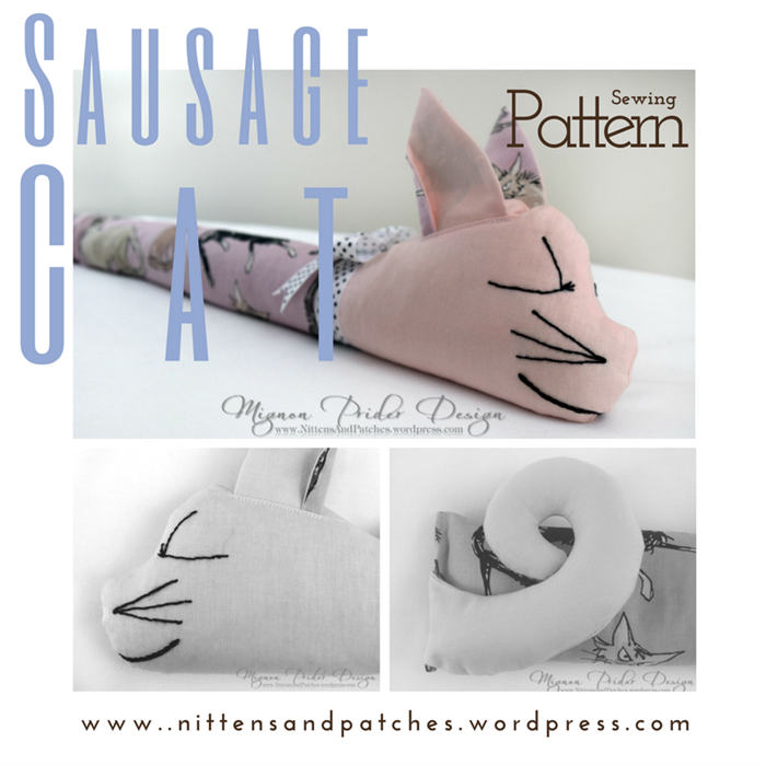 Sausage Cat Sewing Pattern Door Draft Stopper Home Decor