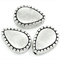 10  Charm Beads Teardrop Antique Silver