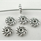 20 Antique Silver Spacer Beads
