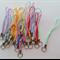 Coloured Phone Strap Dangle Split Ring Bag Charm Holder x 25