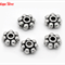 20 Antique Silver Flower  Spacer Beads