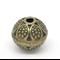 10 Round Ball Antique Bronze Flower Spacer Beads