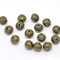 10 Round Ball Antique Bronze Flower Spacer Beads