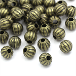 10 Spacer Beads Pumpkin  Antique Bronze 6mm
