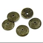 10  Spacer Beads Round Antique Bronze 13x2mm,