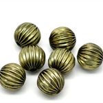 10 Spacer Beads Pumpkin  Antique Bronze 12mm