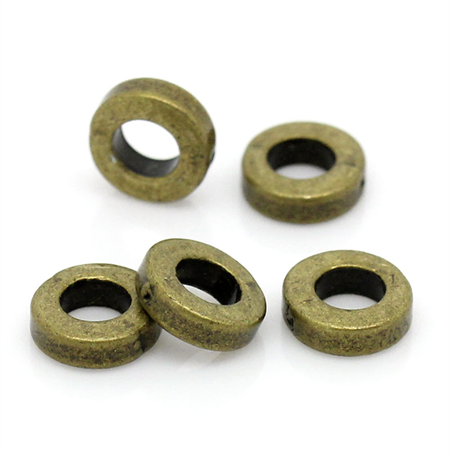 20 Antique Bronze Spacer Beads 6mm