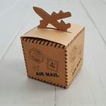 10 x Airmail Kraft Box 6x6x6cm