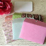 6 x Petite Envelopes with Blank Note Card