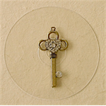Vintage Style Large Key Chunky Pendant in Antique Gold for DIY Bridesmaids Gifts