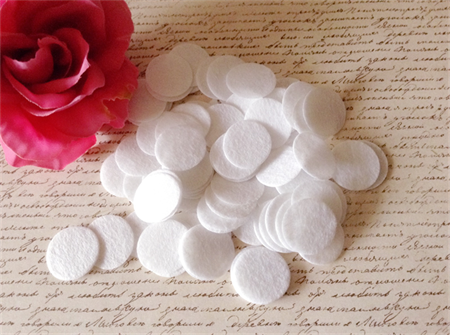 100 Pcs DIY 25mm Felt Circles - White