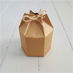 10 Hexagon Kraft Boxes with twine