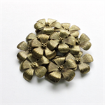 12 Antique Gold Flower Pendants Vintage Style Bridal Party Gifts DIY Jewellery