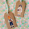 10 Handmade Swing Tags Kraft Card Vintage Childhood 7x4cm
