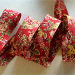 1m Liberty of London Bias Binding Tatum Red Floral Bias Tape 20mm  FREE SHIPPING