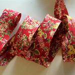 1m Liberty of London Bias Binding Tatum Red Floral Bias Tape 20mm  FREE SHIPPING