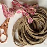 50 Wholesale THIN Nude Nylon Elastic Headbands  - 26cm / 5-6mm wide