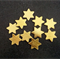 10 x Wooden Gold Stars - Ready to paint