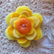 Yellow felt flower
