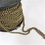50 meter wholesale bulk spool bronze alloy jewellery necklace chain