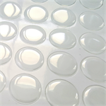 12 x Epoxy Resin 25mm Round Cabochon Stickers Clear