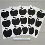 24 Apple Blackboard Vinyl Stickers with liquid chalk pen