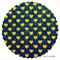 Navy Glitter Fabric with Sparkly Gold Love Hearts | Fine | A4 Sheet |
