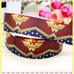 "Wonder Woman Logo Grosgrain Ribbon - Hair Bow Supplies Ribbon 7/8"" 22mm FreePost"