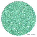 Mint Green Glitter Fabric Sheet - A4 Size Chunky Glitter Fabric