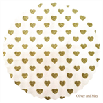 Glitter Fabric with Sparkly Glitter Love Hearts | Fine | A4 Sheet | White & Gold