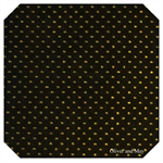 Black with Fine Embossed Gold Dots Leatherette Sheet - A4 Faux Leather Fabric